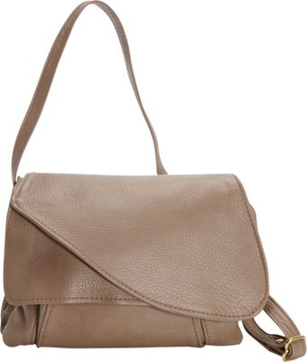 Victoria Leather Tulip Crossbody Taupe - Victoria Leather Leather Handbags
