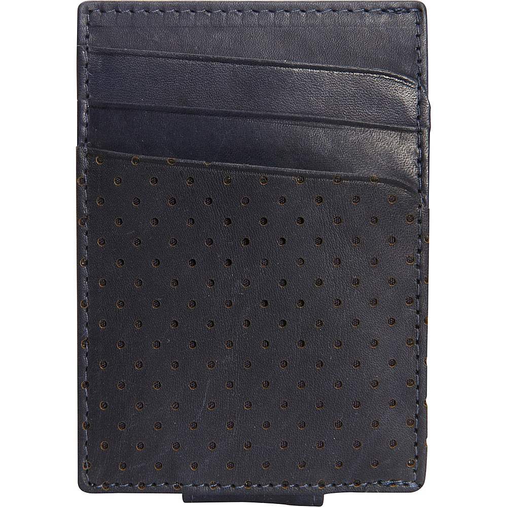 Buxton Cooper Front Pocket Money Clip Navy - Buxton Mens Wallets - Work Bags & Briefcases, Men's Wallets