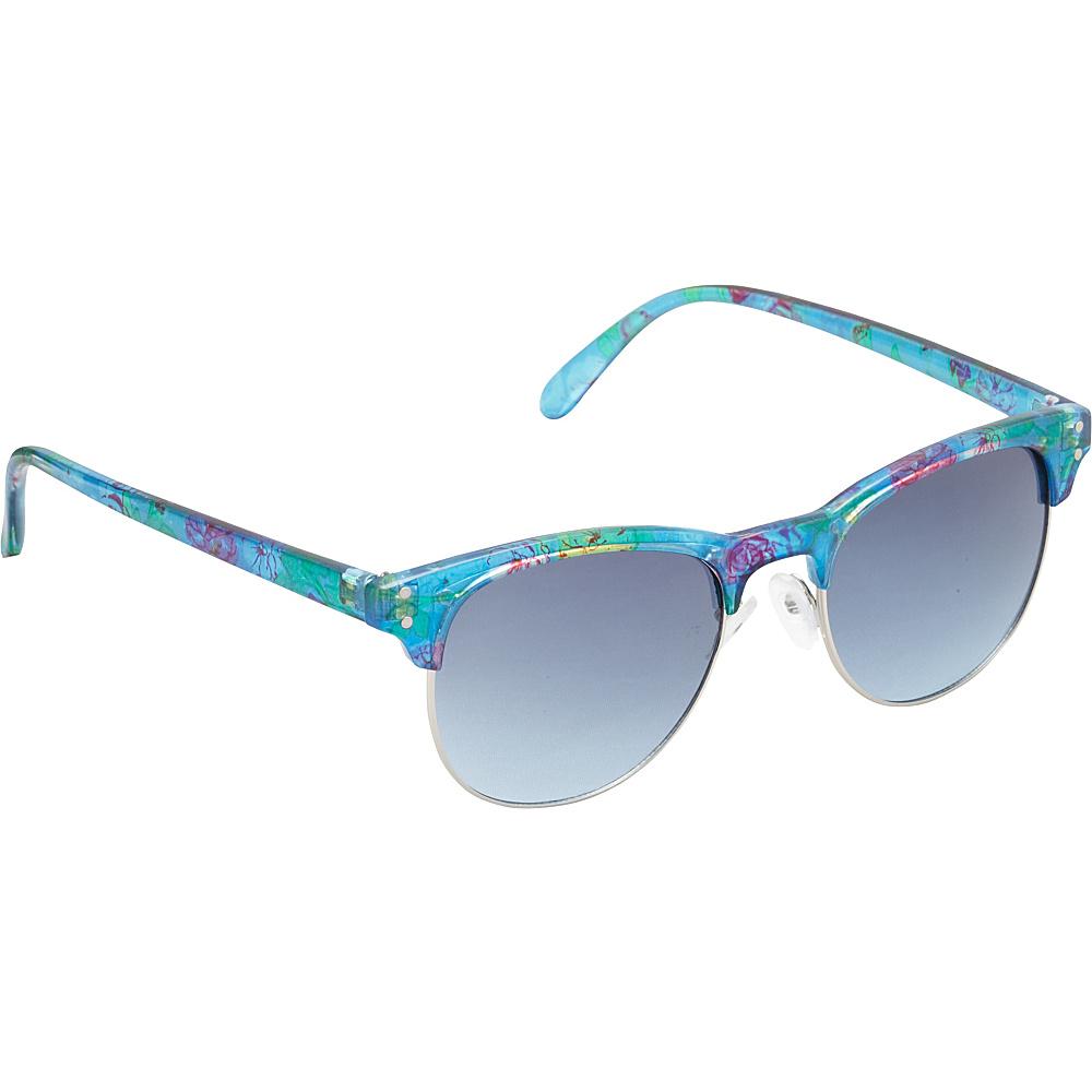 Unionbay Eyewear Retro Floral Sunglasses Floral Silver Unionbay Eyewear Sunglasses