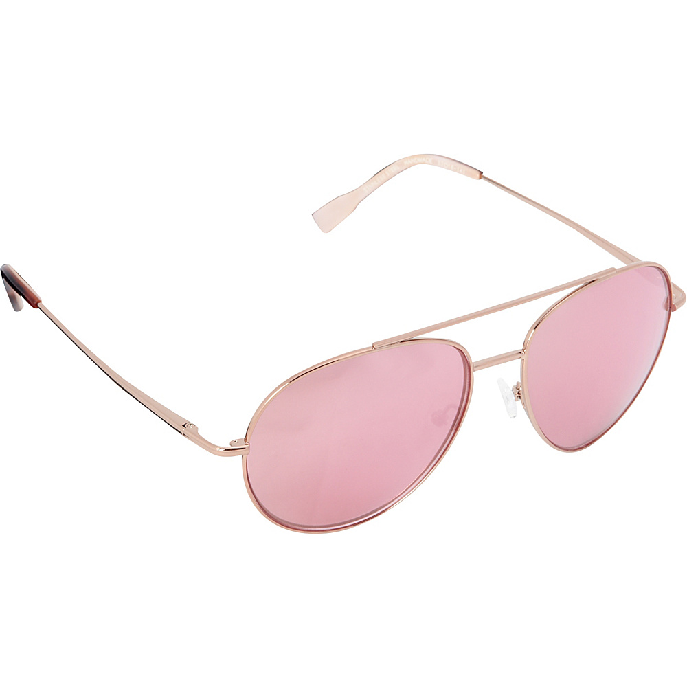 Elie Tahari Sunglasses Oversized Glam Aviator Sunglasses Rose Gold / Tortoise /  Pink - Elie Tahari Sunglasses Sunglasses