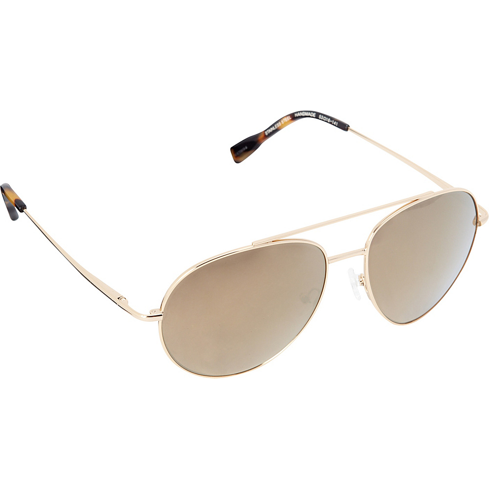 Elie Tahari Sunglasses Oversized Glam Aviator Sunglasses Gold / Tokyo Tortoise - Elie Tahari Sunglasses Sunglasses