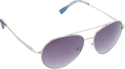 Elie Tahari Sunglasses Oversized Glam Aviator Sunglasses Silver/Tortoise/Blue - Elie Tahari Sunglasses Sunglasses