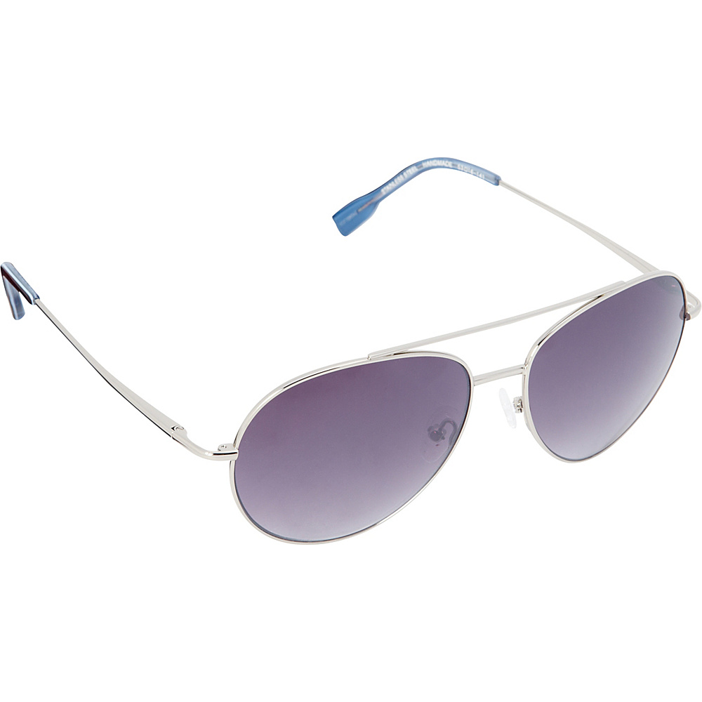 Elie Tahari Sunglasses Oversized Glam Aviator Sunglasses Silver / Tortoise / Blue - Elie Tahari Sunglasses Sunglasses