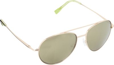Elie Tahari Sunglasses Oversized Glam Aviator Sunglasses Gold/Tortoise/Green - Elie Tahari Sunglasses Sunglasses