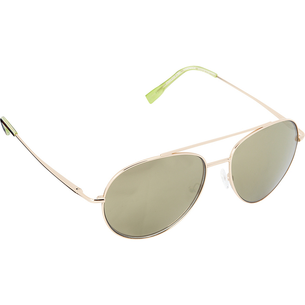 Elie Tahari Sunglasses Oversized Glam Aviator Sunglasses Gold / Tortoise / Green - Elie Tahari Sunglasses Sunglasses