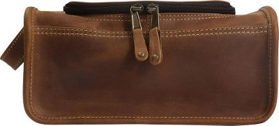 Canyon Outback Leather Taylor Falls Leather Toiletry Bag Distressed Tan - Canyon Outback Toiletry Kits