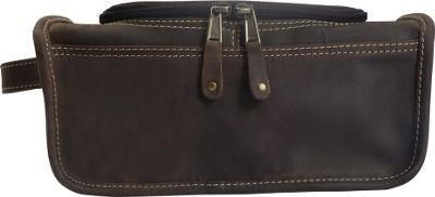 Canyon Outback Leather Taylor Falls Leather Toiletry Bag Distressed Brown - Canyon Outback Toiletry Kits