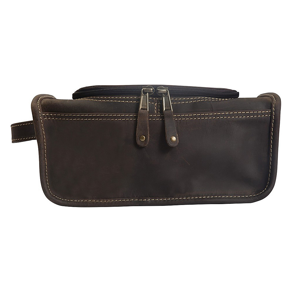 Canyon Outback Leather Taylor Falls Leather Toiletry Bag Distressed Brown Canyon Outback Toiletry Kits