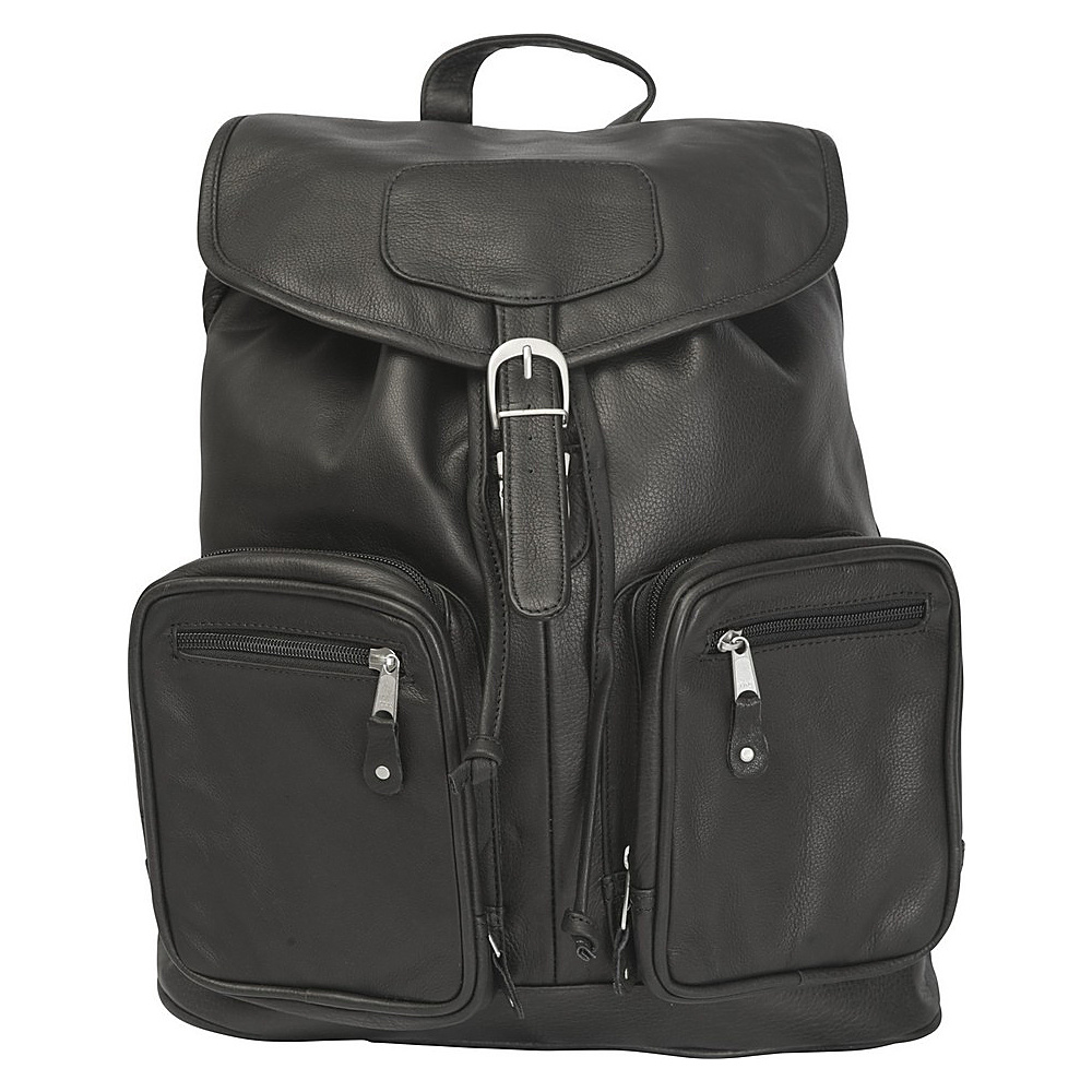 Canyon Outback Leather Grand Canyon Leather Computer Backpack Black - Canyon Outback Laptop Backpacks