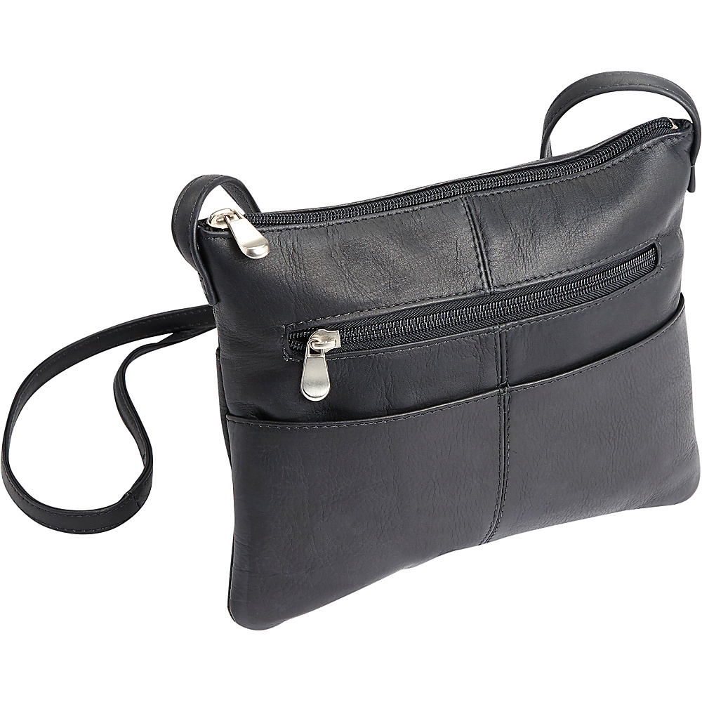 Royce Leather Womens Colombian Leather Crossbody Black - Royce Leather Leather Handbags - Handbags, Leather Handbags
