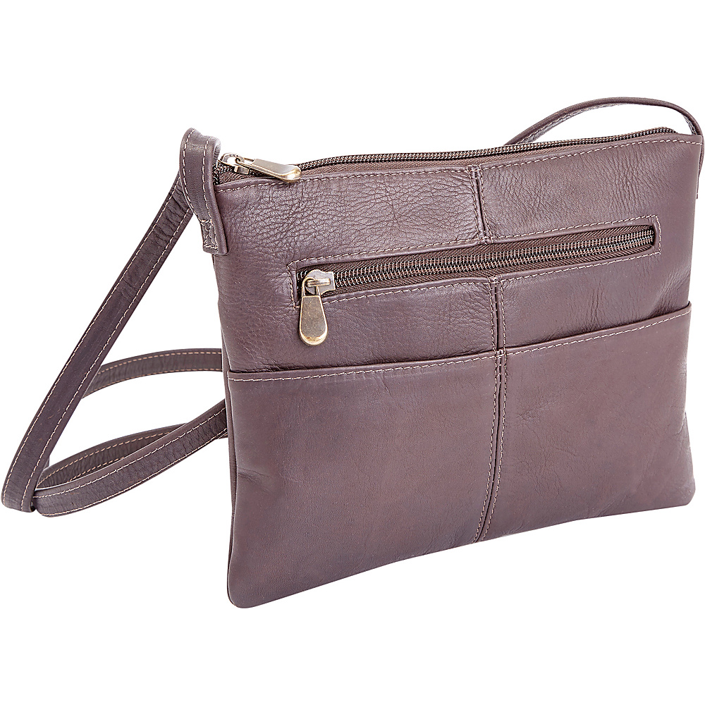 Royce Leather Women s Colombian Leather Crossbody Cafe Royce Leather Leather Handbags