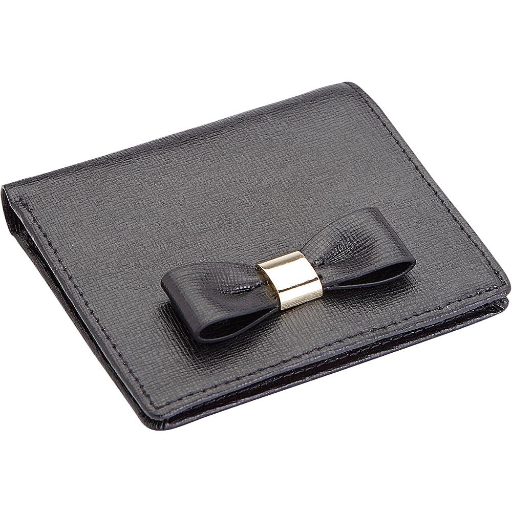 Royce Leather Sarah Mini Bow RFID Blocking Wallet Black - Royce Leather Womens Wallets - Women's SLG, Women's Wallets