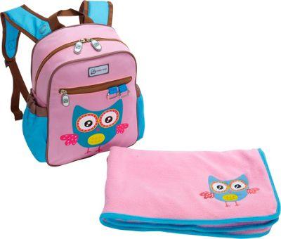 Sydney Paige Buy One/Give One Toddler Backpack + Blanket Set Owl - Sydney Paige Everyday Backpacks