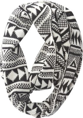 Jessica McClintock Scarves Geometric Print Chunky Infinity Scarf Black/White - Jessica McClintock Scarves Hats/Gloves/Scarves