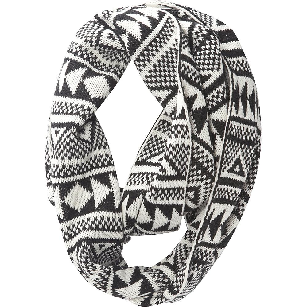 Jessica McClintock Scarves Geometric Print Chunky Infinity Scarf Black/White - Jessica McClintock Scarves Hats/Gloves/Scarves