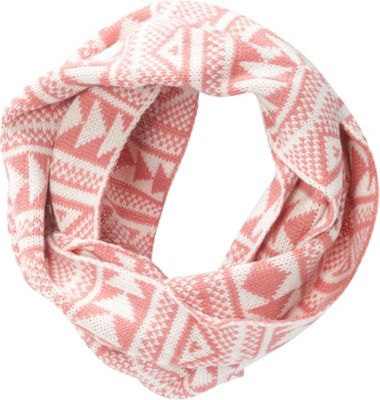 Jessica McClintock Scarves Geometric Print Chunky Infinity Scarf Rose/White - Jessica McClintock Scarves Hats/Gloves/Scarves