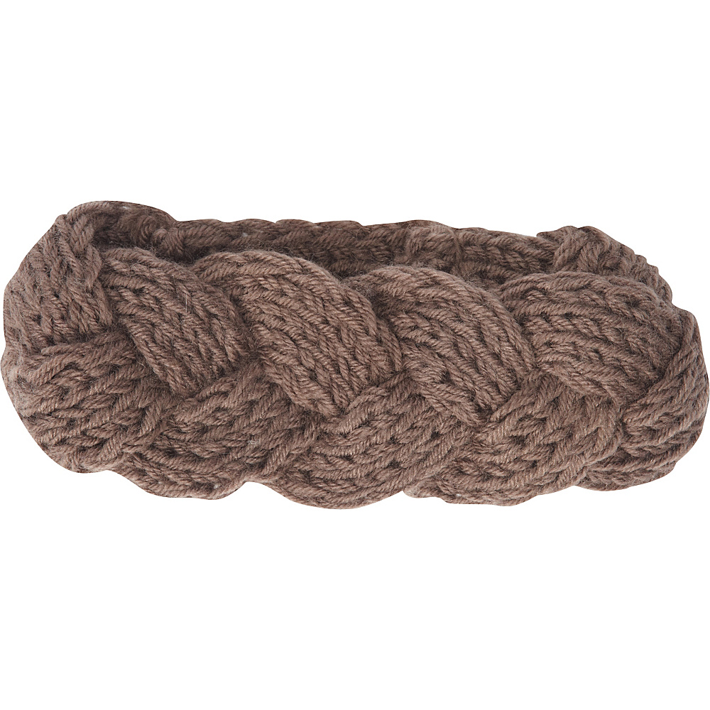 Jessica McClintock Scarves Knit Twist Headwrap One Size - Taupe - Jessica McClintock Scarves Hats/Gloves/Scarves