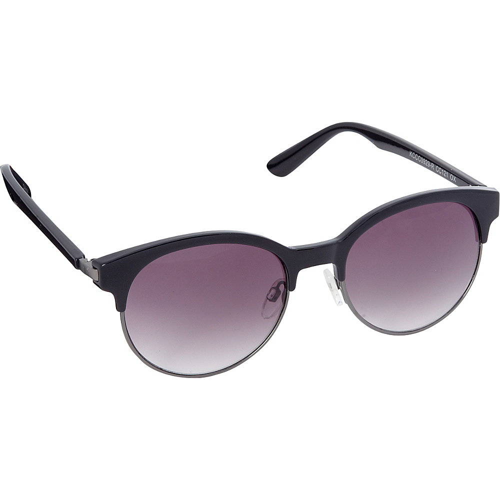 Circus by Sam Edelman Sunglasses Round Retro Sunglasses Black Gunmetal Circus by Sam Edelman Sunglasses Sunglasses