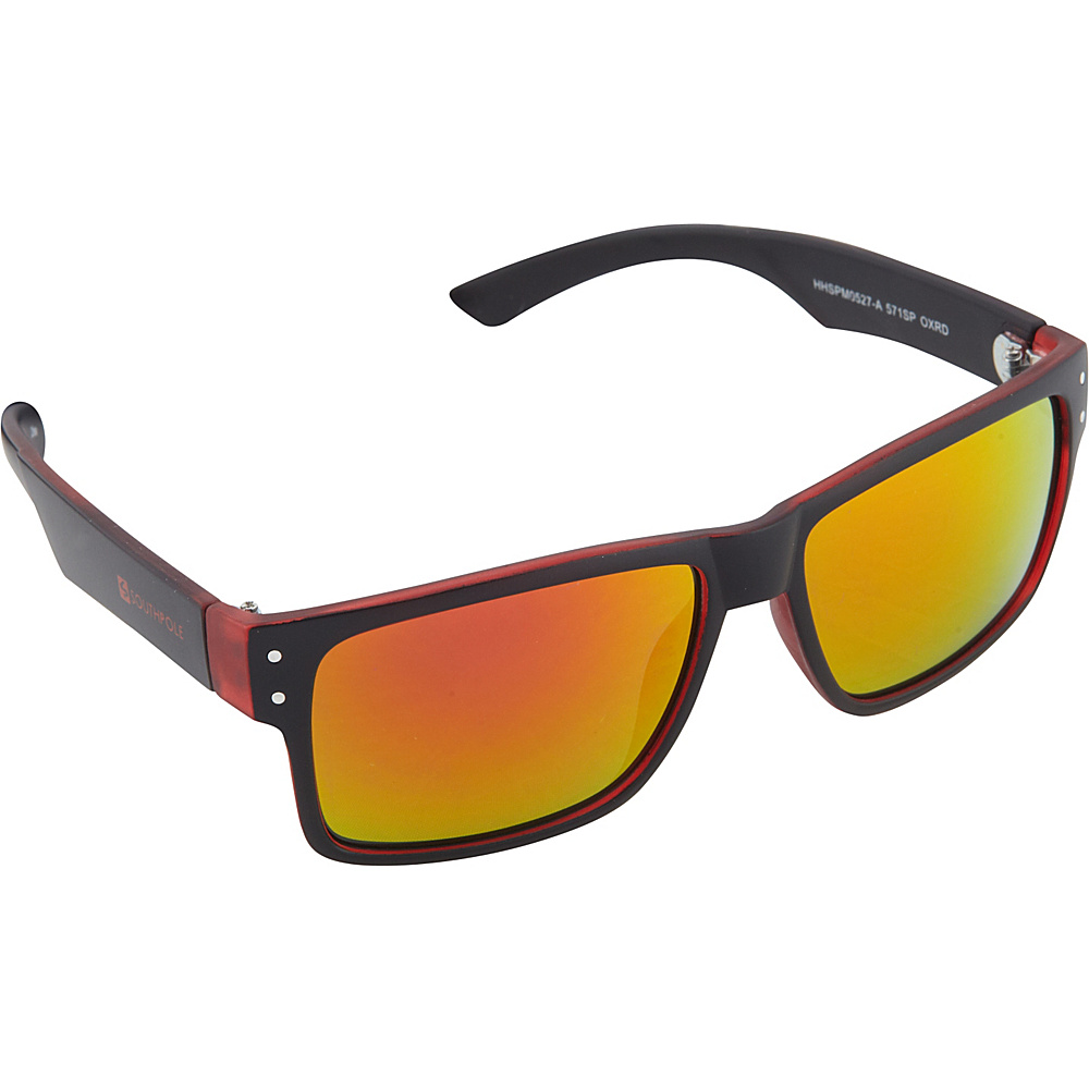 SouthPole Eyewear Rectangle Sunglasses Black Red SouthPole Eyewear Sunglasses