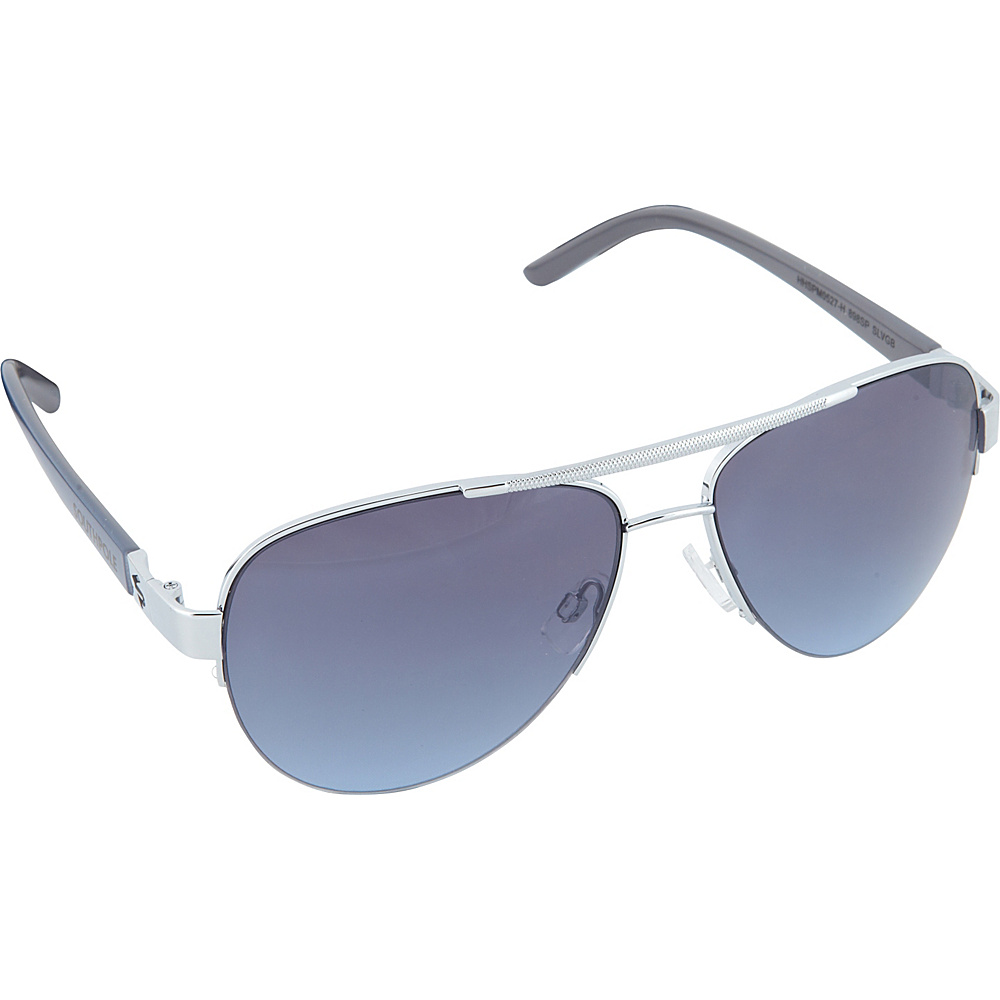 SouthPole Eyewear Semi Rimless Aviator Sunglasses Silver Grey Blue SouthPole Eyewear Sunglasses
