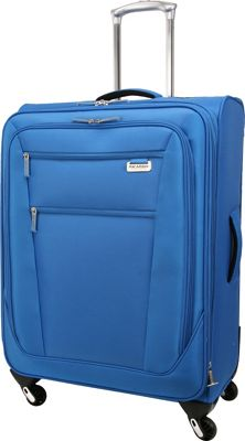 Ricardo Beverly Hills Del Mar 25 inch 4 Wheel Expandable Upright Sapphire - Ricardo Beverly Hills Softside Checked