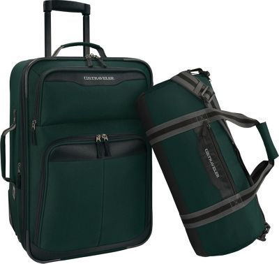 U.S. Traveler 2-Piece Carry-On Rolling Upright & Duffel Bag Luggage Set Forest - U.S. Traveler Luggage Sets