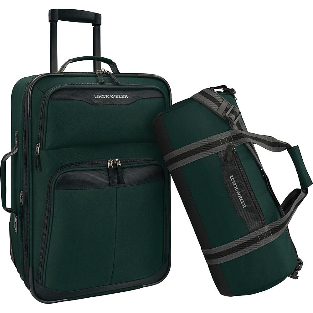 u s traveler 2 piece carry on rolling upright duffel. Black Bedroom Furniture Sets. Home Design Ideas