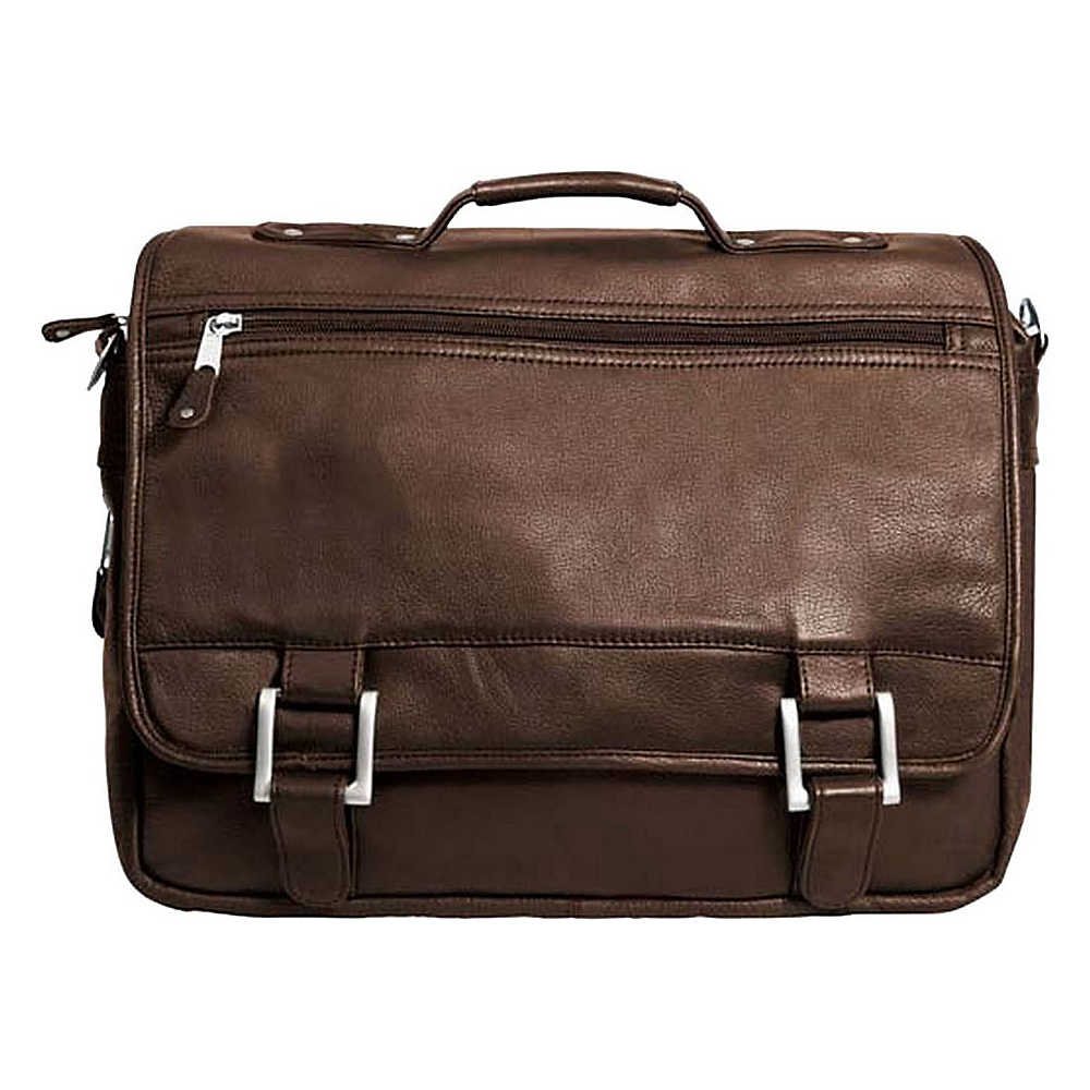 Canyon Outback Leather Copper Canyon Leather Expandable Briefcase Brown - Canyon Outback Non-Wheeled Business Cases