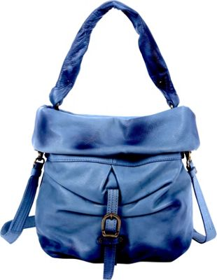 Old Trend Old Trend Lotus Bucket Bag Navy - Old Trend Leather Handbags