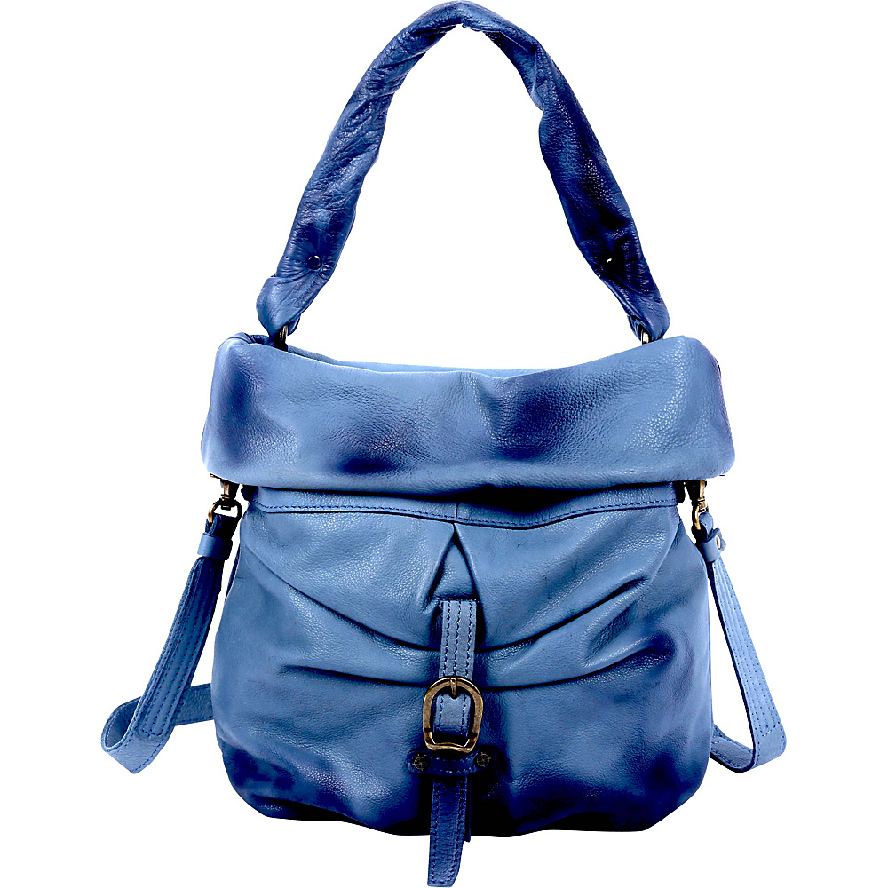 Old Trend Lotus Bucket Bag Navy Old Trend Leather Handbags