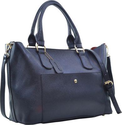 Dasein 2-in-1 Satchel with Front Snap Pocket Black - Dasein Manmade Handbags