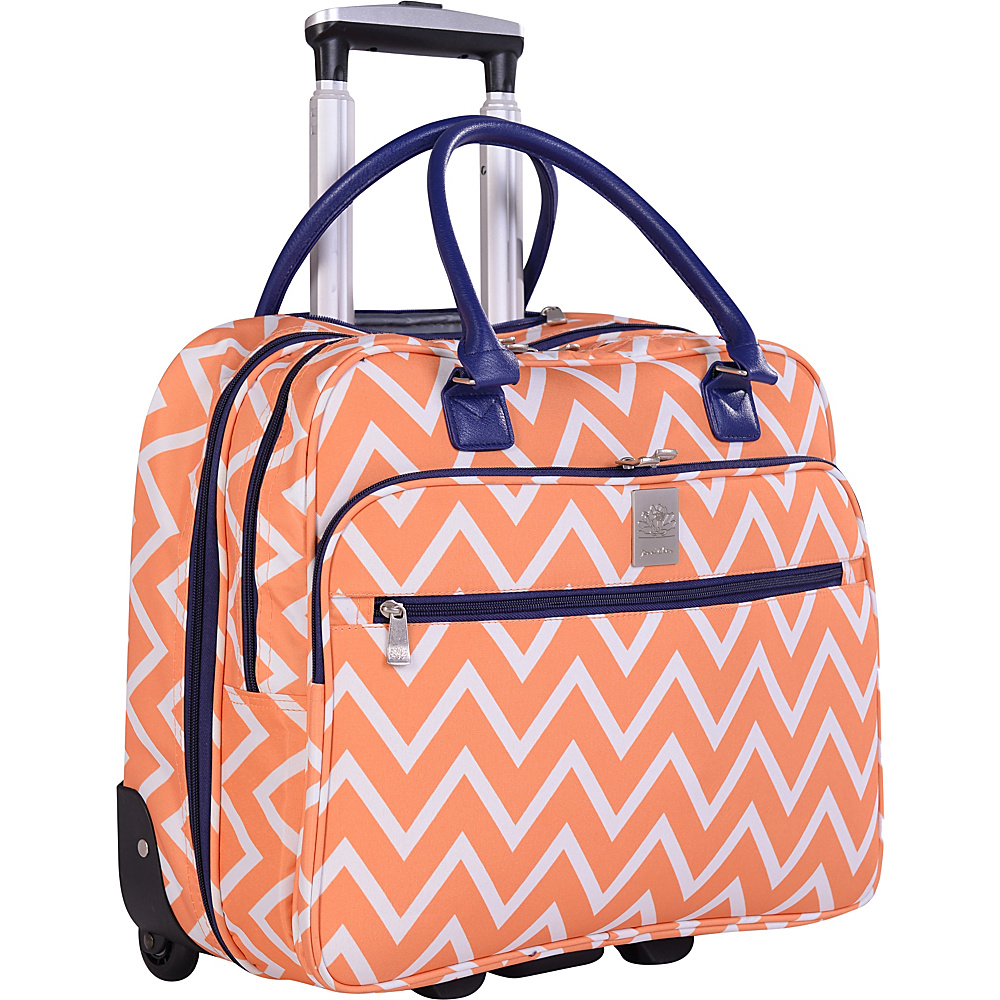 "Jenni Chan Aria Madison 18"" Wheeled Tote Orange - Jenni Chan Luggage Totes and Satchels"