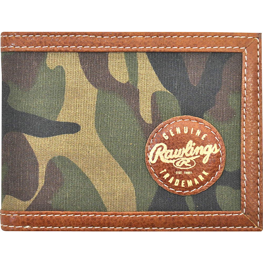 Rawlings Camo Bifold Camo Brown Green Rawlings Men s Wallets