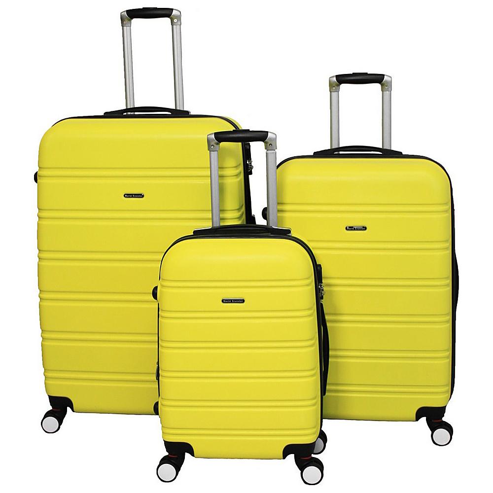 World Traveler Regis 3-Piece Hardside Expandable Spinner Luggage Set Yellow - World Traveler Luggage Sets - Luggage, Luggage Sets