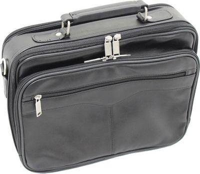 World Traveler Leatherette 13 inch Laptop Case Black - World Traveler Non-Wheeled Business Cases