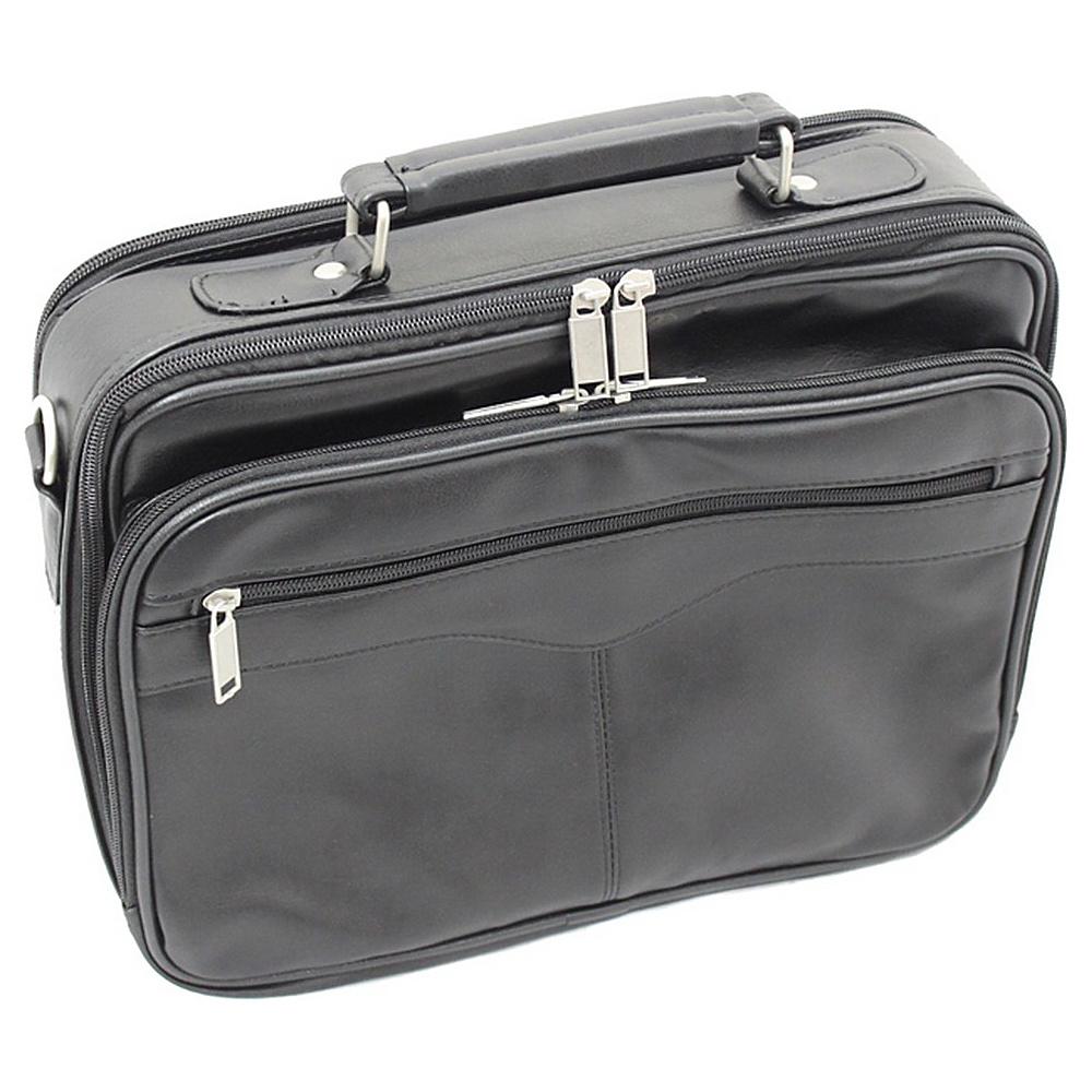 World Traveler Leatherette 13 Laptop Case Black - World Traveler Non-Wheeled Business Cases - Work Bags & Briefcases, Non-Wheeled Business Cases