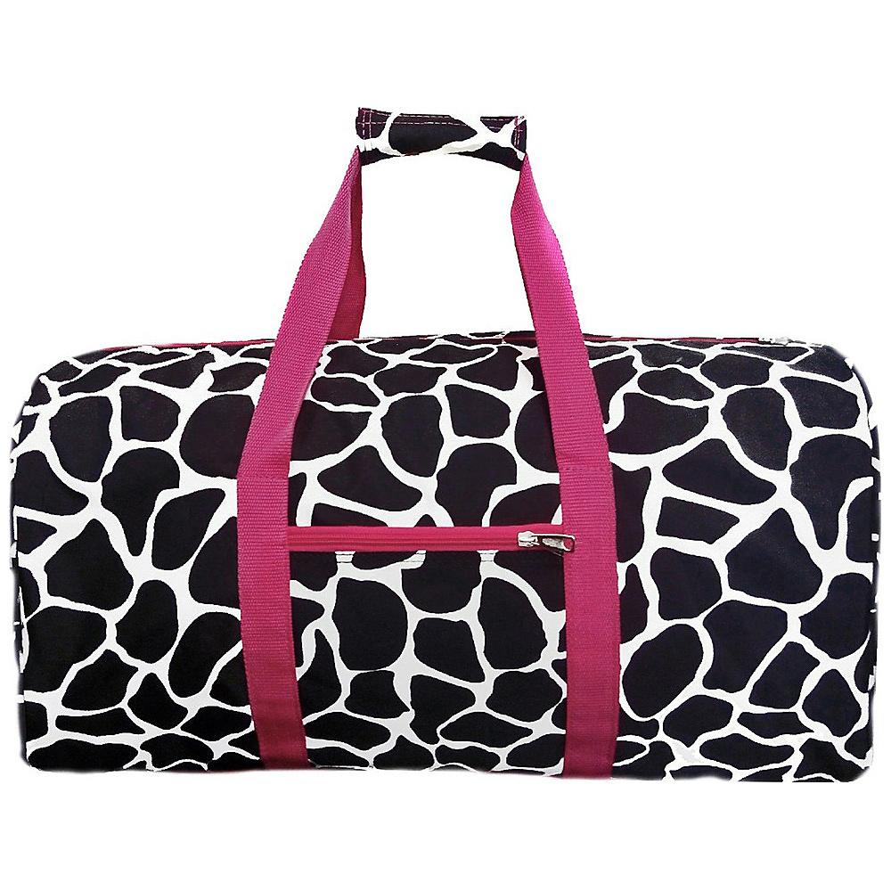 World Traveler Giraffe 22 Lightweight Duffle Bag Fuchsia Trim Giraffe - World Traveler Rolling Duffels - Luggage, Rolling Duffels