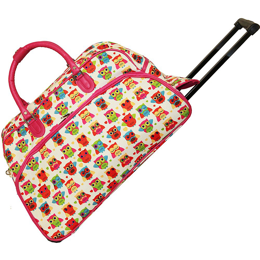 World Traveler Owl 21 Rolling Duffel Bag Owl Pink - World Traveler Rolling Duffels - Luggage, Rolling Duffels