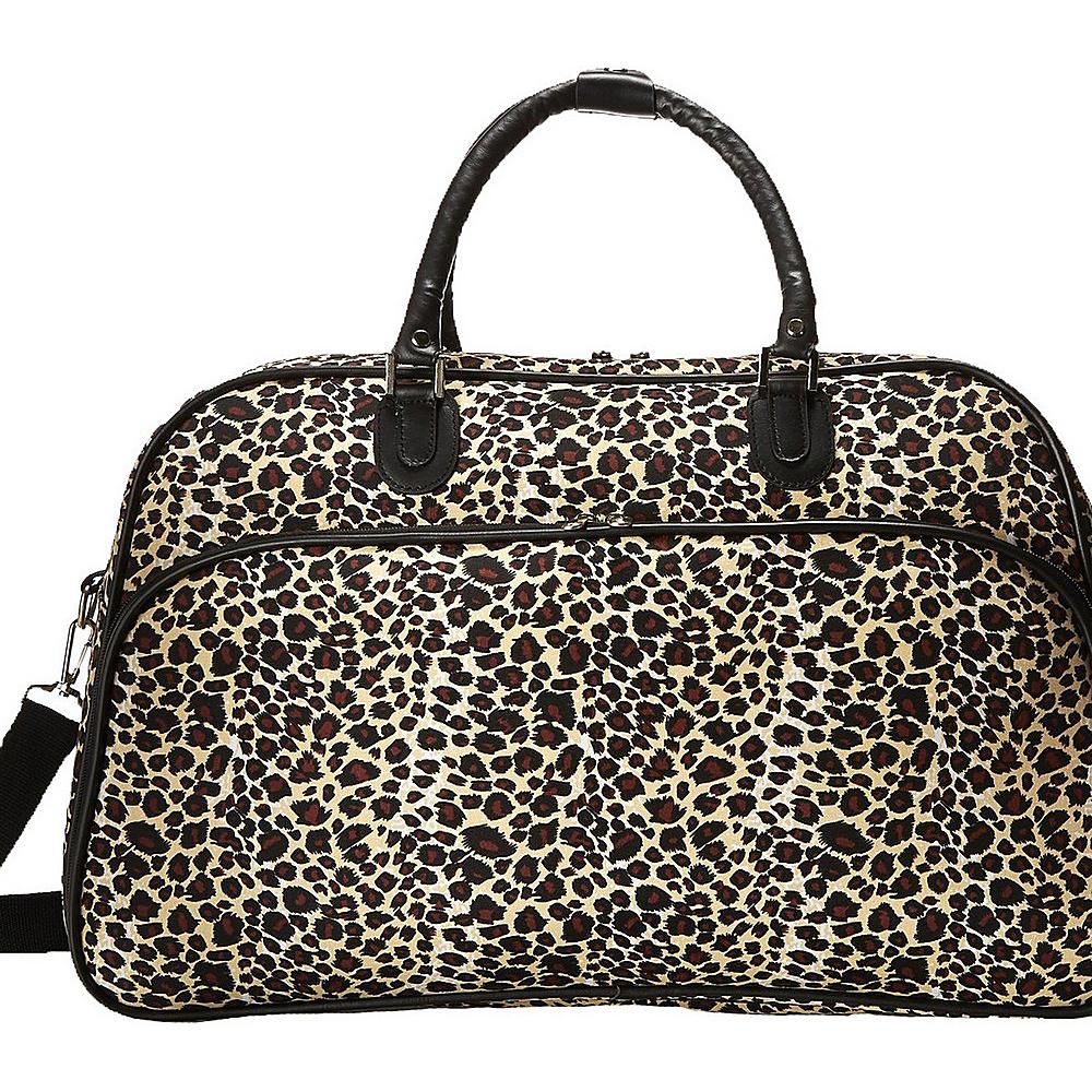 World Traveler Leopard 21 Carry-On Duffel Bag Leopard - World Traveler Rolling Duffels - Luggage, Rolling Duffels