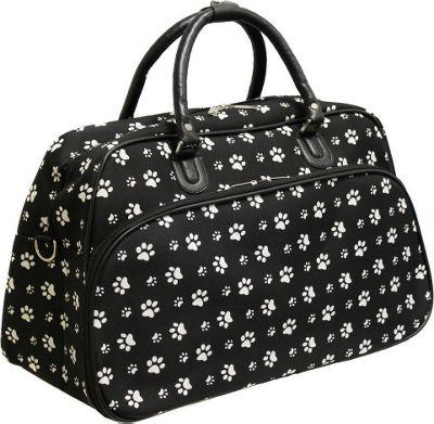"World Traveler Paws 21"" Carry-On Duffel Bag Black White P..."