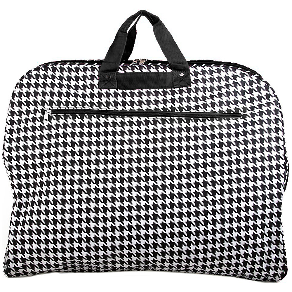 World Traveler Houndstooth 40 Hanging Garment Bag Black Trim Houndstooth - World Traveler Garment Bags - Luggage, Garment Bags
