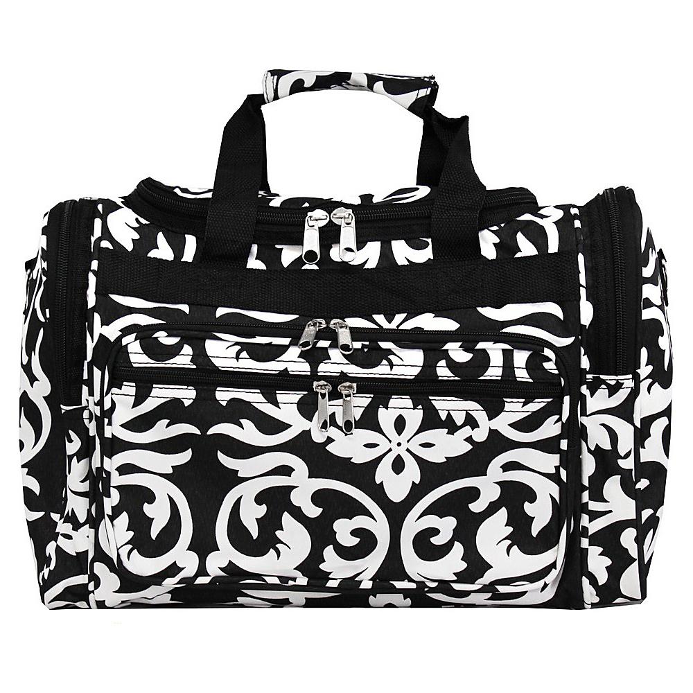 World Traveler Damask 16 Shoulder Duffle Bag Black Trim Damask - World Traveler Rolling Duffels - Luggage, Rolling Duffels