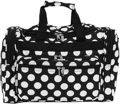 World Traveler Dots ll 16 inch Shoulder Duffle Bag Black White Dot II - World Traveler Rolling Duffels