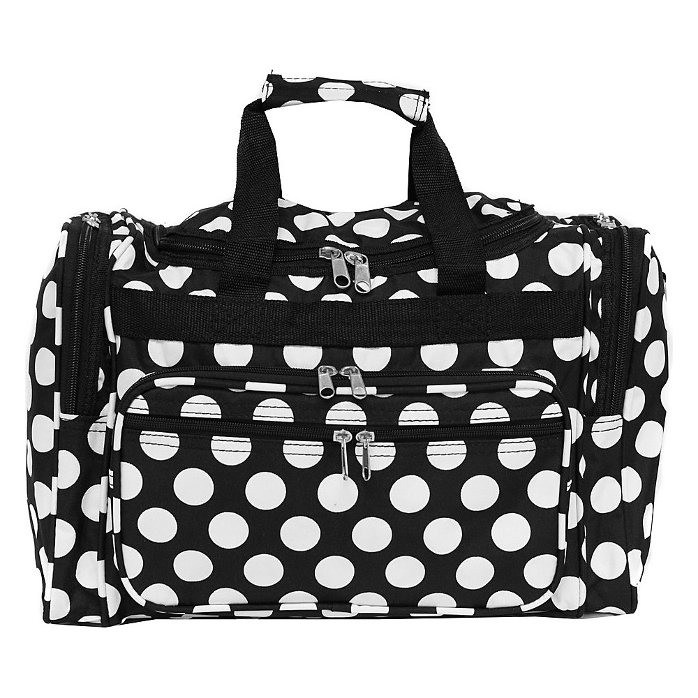 World Traveler Dots ll 16 Shoulder Duffle Bag Black White Dot II - World Traveler Rolling Duffels - Luggage, Rolling Duffels