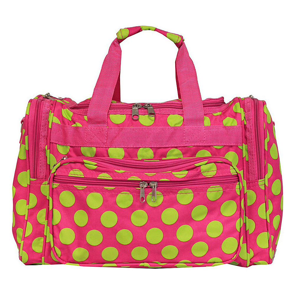 World Traveler Dots ll 16 Shoulder Duffle Bag Fuchsia Lime Dot II World Traveler Rolling Duffels