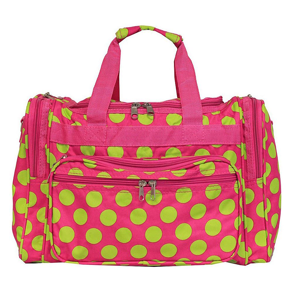 World Traveler Dots ll 16 Shoulder Duffle Bag Fuchsia Lime Dot II - World Traveler Rolling Duffels - Luggage, Rolling Duffels