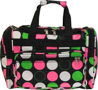 World Traveler Dots ll 16 inch Shoulder Duffle Bag New Multi Dot - World Traveler Rolling Duffels