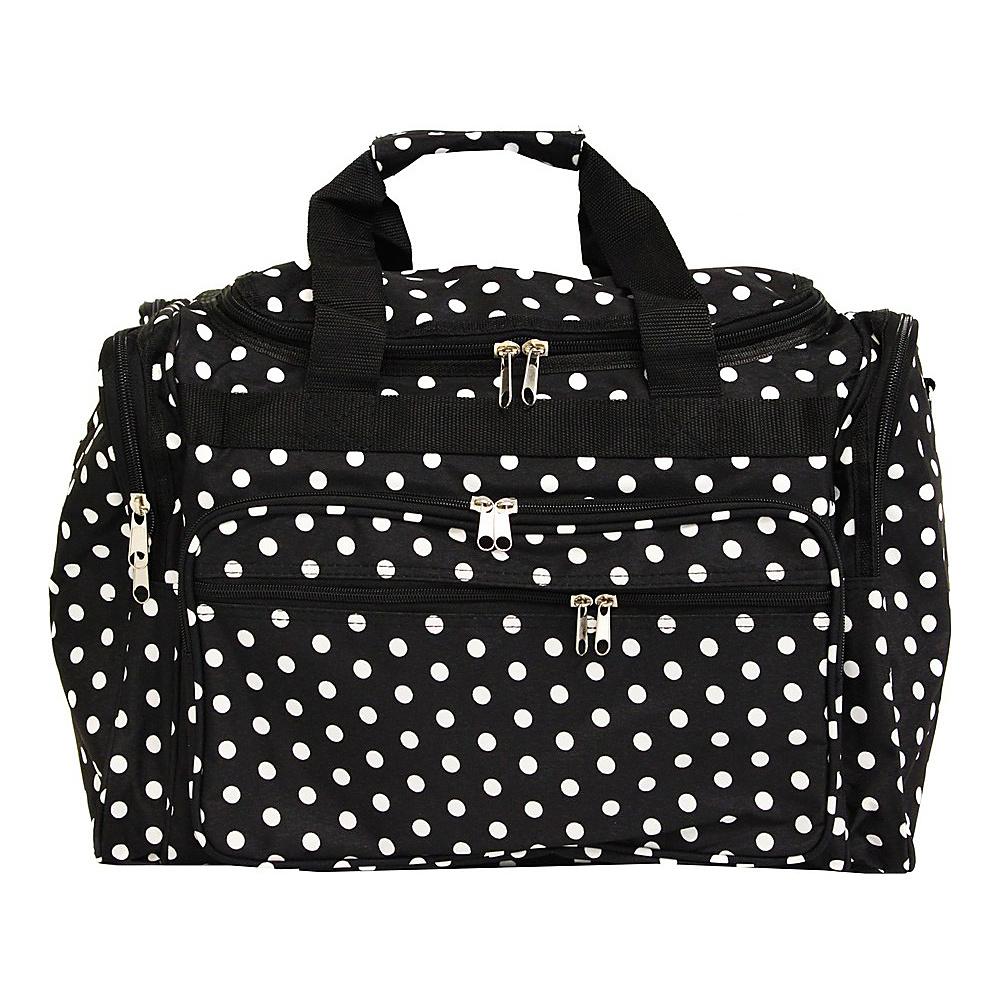 World Traveler Dots 19 Shoulder Duffle Bag Black White Dot - World Traveler Rolling Duffels - Luggage, Rolling Duffels