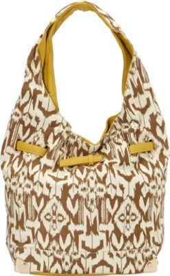 nu G Tribal Print Hobo Mustard - nu G Manmade Handbags