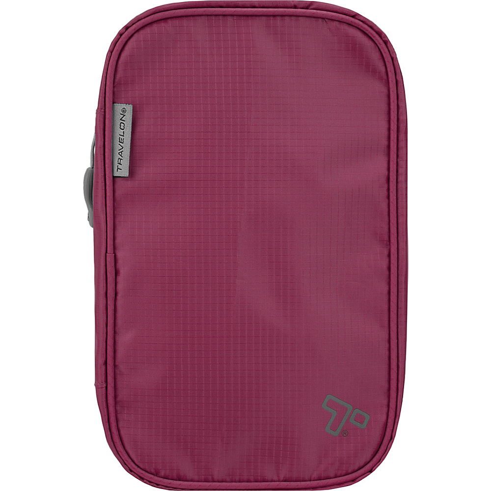 Travelon Compact Hanging Toiletry Kit Wineberry - Travelon Toiletry Kits - Travel Accessories, Toiletry Kits